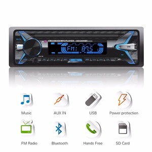 Автомобильная стереосистема, 1 DIN, 12 В, Bluetooth, fm-передатчик, mp3-плеер с AUX-IN, SD, USB, MMC, WMA, FLAC