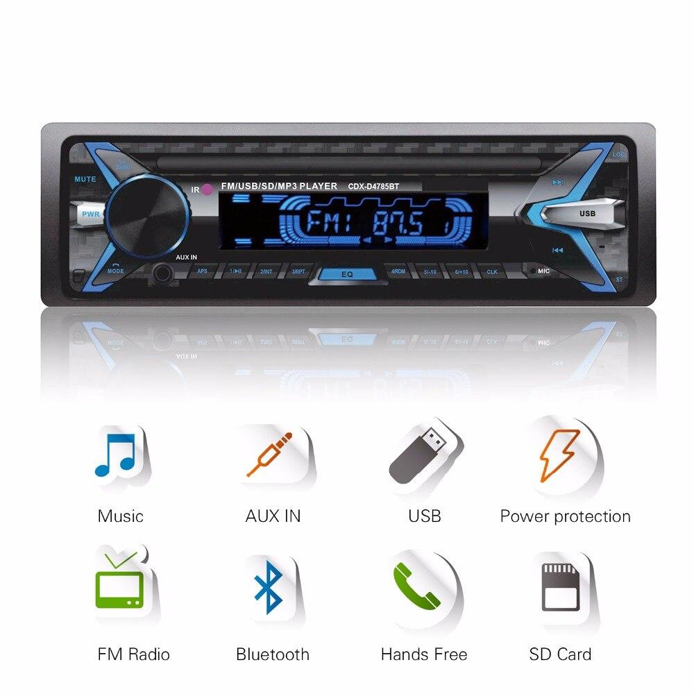 Pannello rimovibile 12 v Per Auto Bluetooth Audio Stereo In-Dash 1Din Autoradio Trasmettitore FM Lettore MP3 con AUX-IN SD USB MMC WMA FLAC