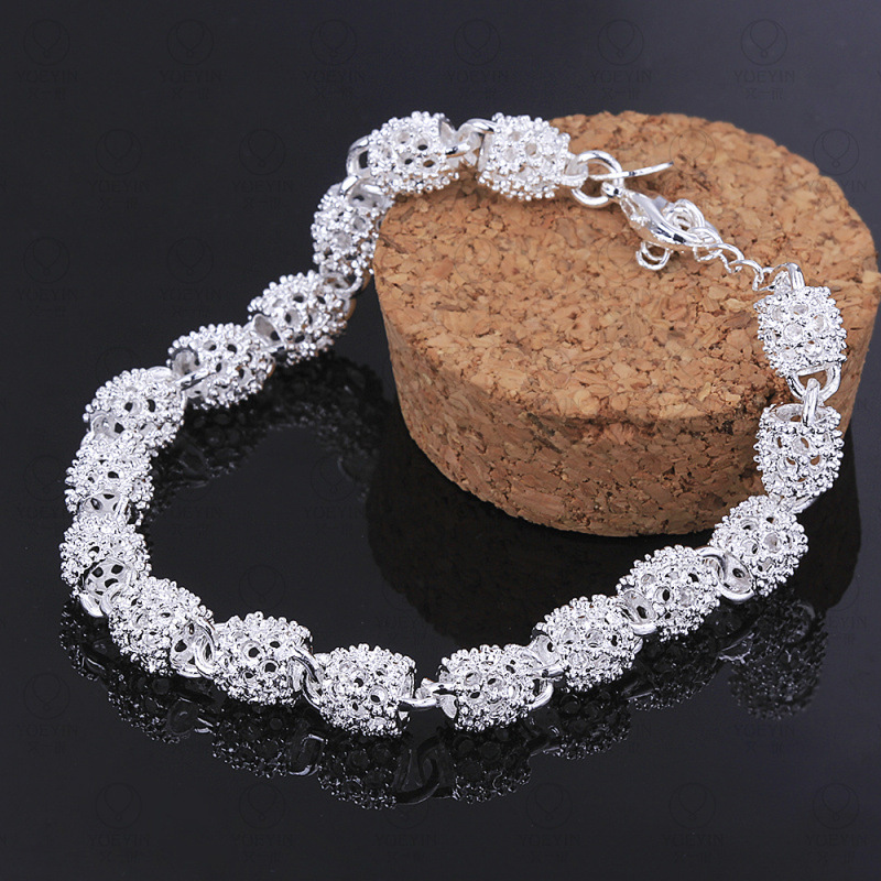New Silver color Jewelry Hollow Out Bead Bracelet 3