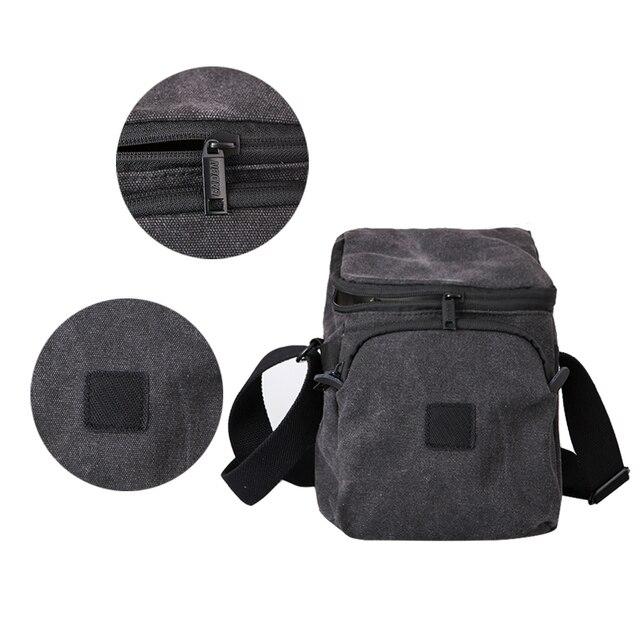 Caden M1 Shoulder Camera Deep Gray Digital Bags For Men Women Sling Canvas Soft