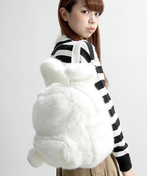 Kawaii Japan30cm Estilo Harajuku Orelhas de Coelho Coelho de Pelúcia Macia Mochila Feminina Dupla Ombro Saco Para Adolescente Meninas Mochilas