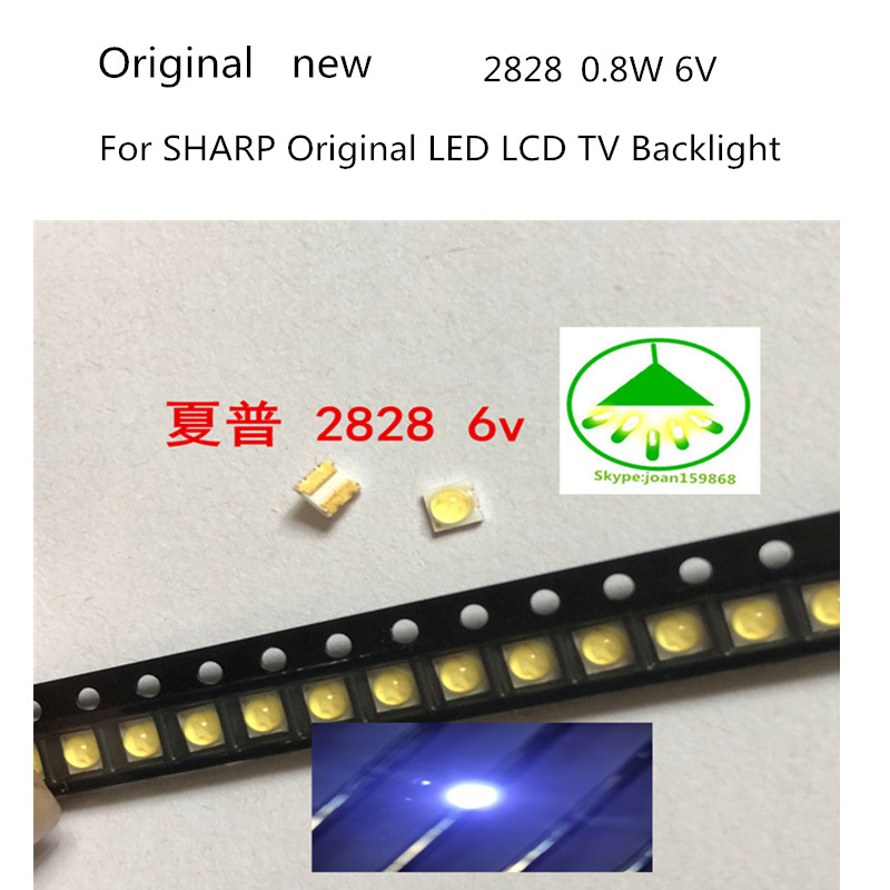 Active Components Diodes 50pcs For Sharp Led Backlight High Power Led 0.8w 2828 6v Cool White 43lm Gm2cc3zh2eem Tv Application Moderate Price