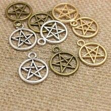 Drei Farbe Vintage Metall Legierung Pentagramm Charms Schmuck Anhänger Charms 50 stücke 20*25mm T0337