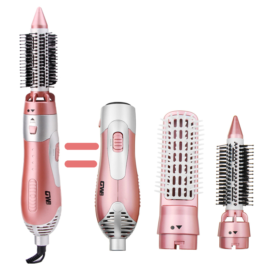GW Professional Hair Dryer Machine Comb 2 In 1 Multifunctional Hair Dryer Hair Styling Tools Set Hairdryer Travel Home Low Price