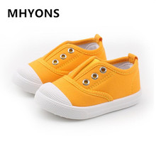 MHYONS children's shoes 2019 spring children's canvas shoes boys and girls a pedal shoes kindergarten casual shoes