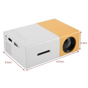 Image 5 - YG300 מיני נייד מקרן LCD LED Proyector HDMI AV USB SD 400 600 לום קולנוע ביתי ילדי חינוך Beamer HD Projetor