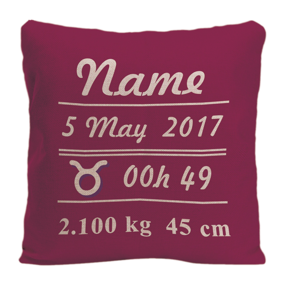 Custom Constellation Throw Pillow Case With Baby Girl Birth Data Star Decorative Cushion Cover Perfect Birthday Gift By Lvsure