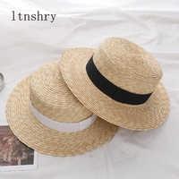 2019 verão feminino chapéu de palha de borda larga moda chapeau paille senhora chapéus de sol boater trigo panamá praia chapéus chapeu bonés femininos