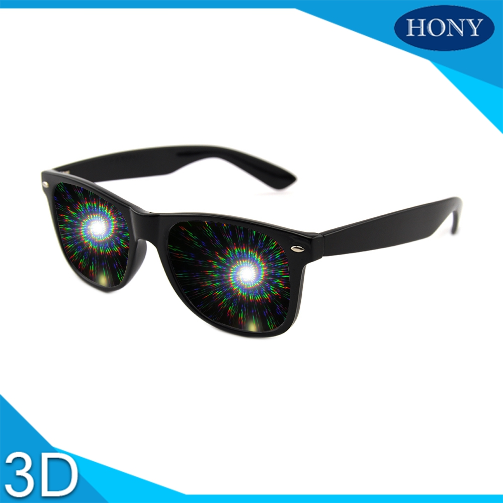 10pcs Plastic Spirals Fireworks Rainbow Raves Prism 3d Glasses Diffraction Glasses Spirals Wholesale Plastic for Funny