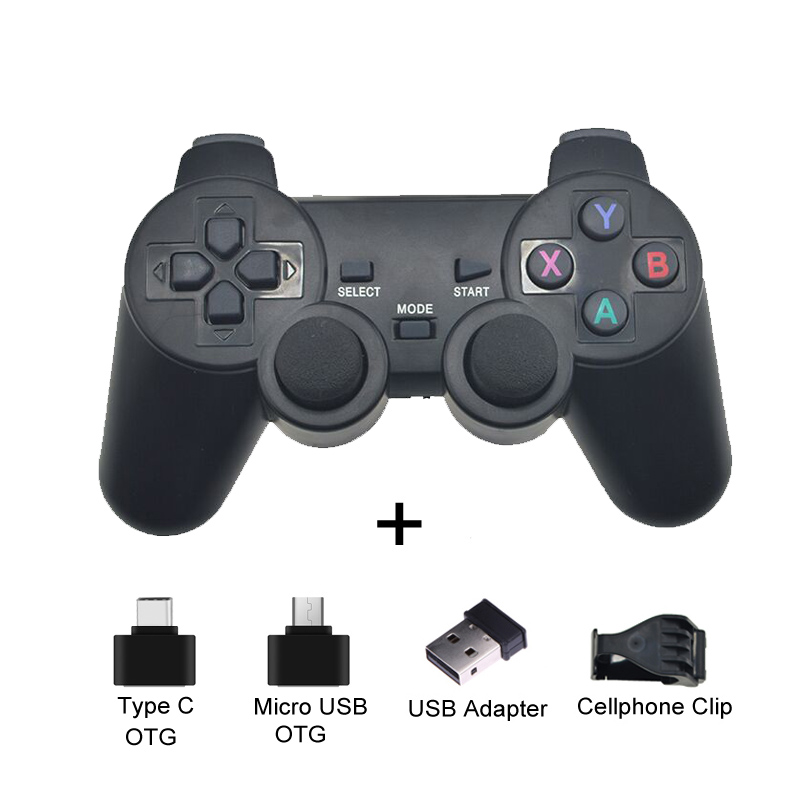 Android Wireless Gamepad For Android Phone/PC/PS3/TV Box Joypad 2.4G USB Joystick Game Controller For Xiaomi Smart Phone