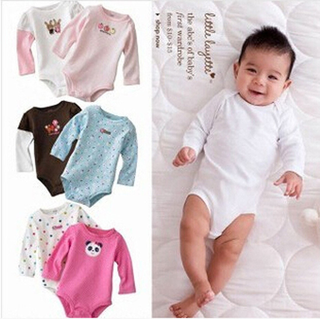 Baby Girls Newborn Rompers Unisex Outfit 2015 Children Clothes