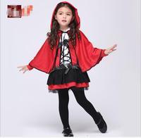 Christmas arrival children girl Little Red Riding Hood cosplay dress princess halloween costume clothing devil costume