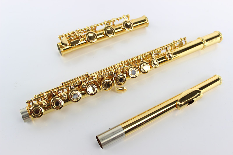 Hhigh Quality 17 Hole Open C Tune E Key MARGEWATE Flute Professional Musical Instruments Cupronickel Gold Plated Flute With Case