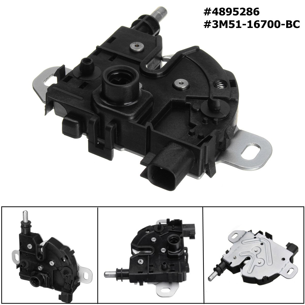 Bonnet Hood Lock Block Latch Catch for Ford for Focus MK2 C-Max Kuga MK1 2003-2016 4895286 3M51-16700-BCBonnet Hood Lock Block Latch Catch for Ford for Focus MK2 C-Max Kuga MK1 2003-2016 4895286 3M51-16700-BC