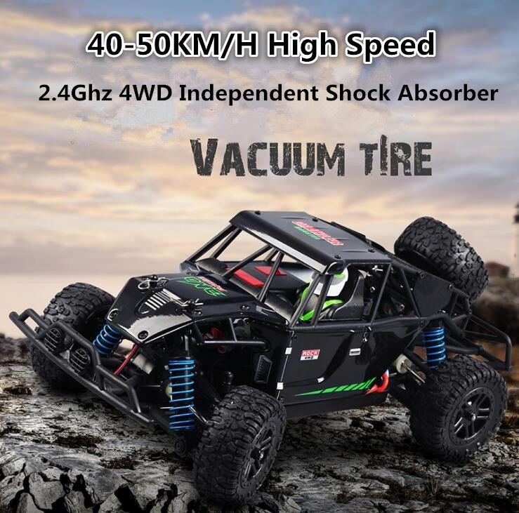 RC Car Toy 2.4G 1:18 Full Scale 40-50KM/H 4WD Desert Racing Car High Speed Remote Control Toys for ChildrenRC Car Toy 2.4G 1:18 Full Scale 40-50KM/H 4WD Desert Racing Car High Speed Remote Control Toys for Children