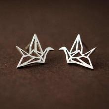 Ruifan Promotion Wholesale Bird Shape 925 Sterling Silver Stud Earrings for Women Ladies Small Fine Jewelry YEA123