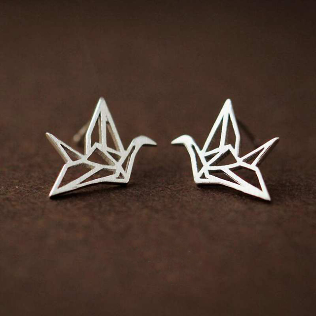 Ruifan Promotion Wholesale Bird Shape 925 Sterling Silver Stud Earrings for Women Ladies Small Earrings Fine Jewelry YEA123