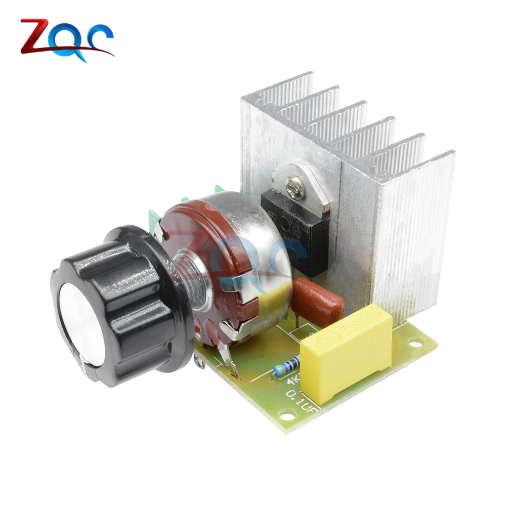 AC 220V 3800W Motor Speed Controller Imported SCR Thyristor Power Electronic Dimmer Voltage Regulator Temperature Silicon Switch(China)