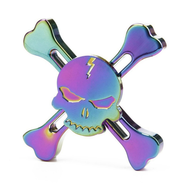 New Original Skull Metal Fidget Hand Spinner Tri spinner For Adult To Reduce Pressure Fidget Spinner