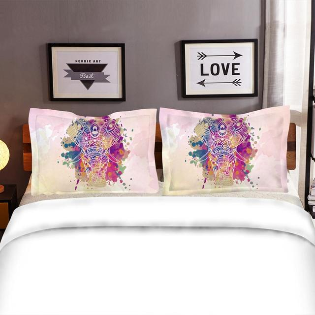 Watercolored Elephant Bedding Set