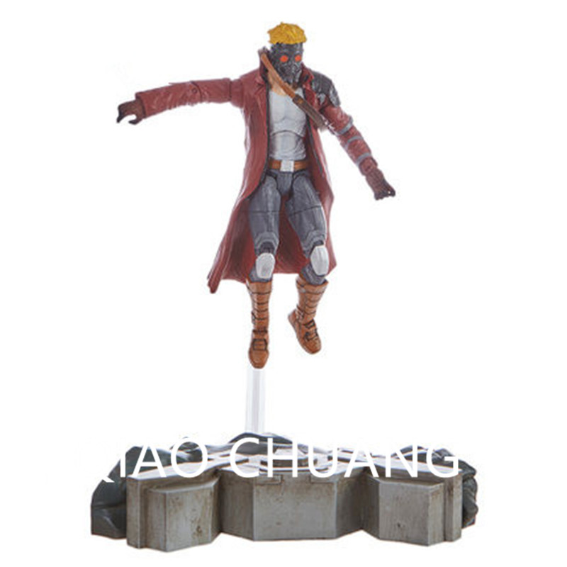 Avengers:Infinity War Guardians Of The Galaxy Shooter Peter Jason Quill Star-Lord PVC Action Figure Model Toy G1166 1 6 figure doll head shape 12 action figure accessories guardians of the galaxy star lord peter quill chris pratt head carved