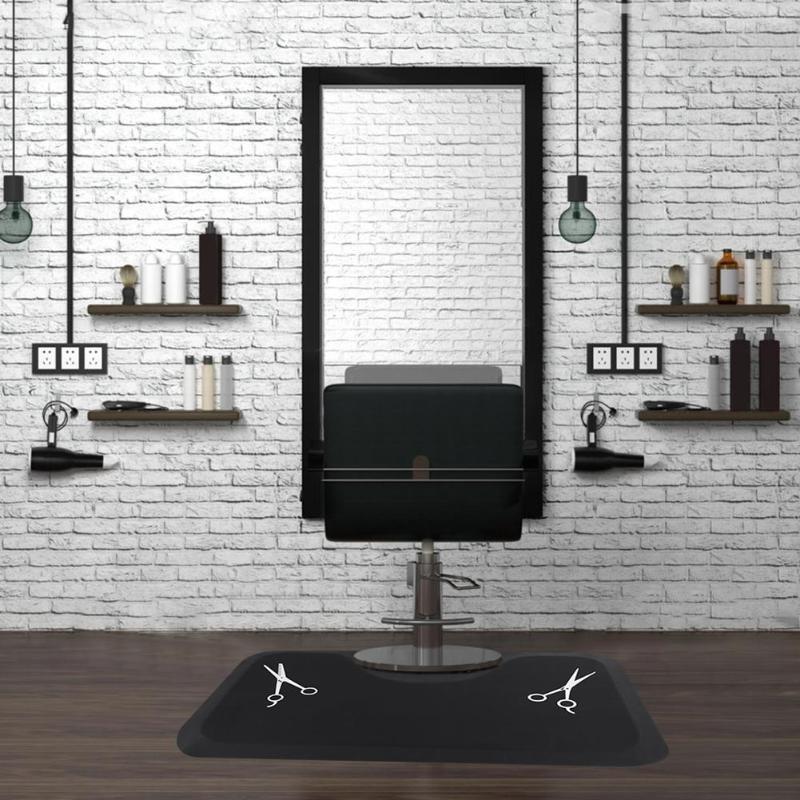 1PC Beauty Salon Rectangle Anti-fatigue Mat Black Scissors Pattern Soft Mat for Salon Hair Tool1PC Beauty Salon Rectangle Anti-fatigue Mat Black Scissors Pattern Soft Mat for Salon Hair Tool