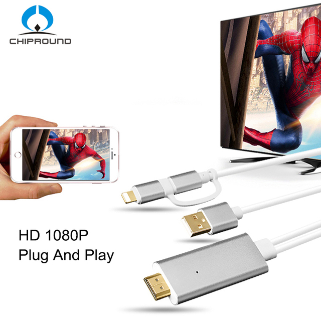 timeless design 429d6 dfc1b US $19.99 |2 in 1 MHL HDMI Cable For Samsung A7 J5 / Iphone 6 6 Plus Huawei  Micro USB To HDMI Cable Adapter HDTV TV Connector-in HDMI Cables from ...