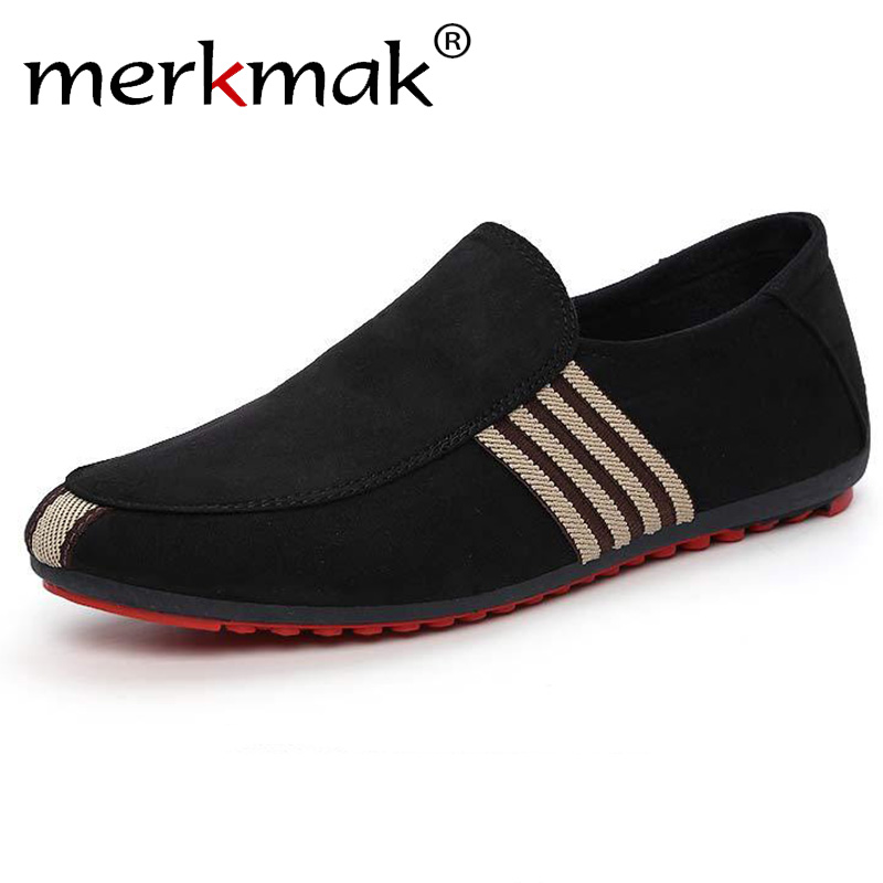 2019 New Spring Men Suede Leather Loafers Driving Shoes Moccasins Summer Fashion Men's Casual Shoes Flat Breathable Lazy Flats(China)