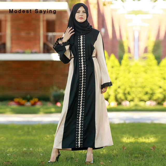 1648a1013d US $49.5 10% OFF|Aliexpress.com : Buy Elegant Black Muslim Lace Evening  Dresses 2018 Abaya Long Sleeves Evening Gowns Ankle Length Party Prom Gowns  ...