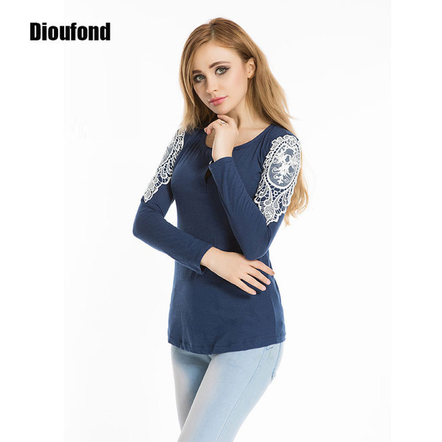 meilleur service f9552 784c4 Dioufond Blusas Lace Shirts Women Crochet Blouse Women Blouses Embroidery  Chemise Femme Long Sleeve Blouse Chemisier Femme 2016-in Blouses & Shirts  ...