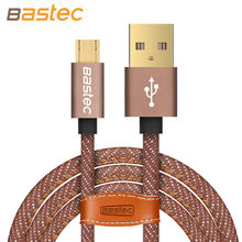 Bastec Micro USB Cable Fashion Durable Braided Fast Charge Sync Data Mobile Phone USB Cable for Xiaomi Huawei Samsung HTC