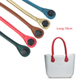 New 1 Pair  Obag  70CM Long Size Soft Pu Faux Leather HandlesAMbag Classic Mini O Bag Women's Bags Shoulder Handbag O Bag