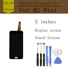 "Фотография For Meizu M2 Mini LCD  Touch Screen Digitizer + Display 5.0"" Cellphone Black Color Free Shipping Digitizer Assembly Replacement"