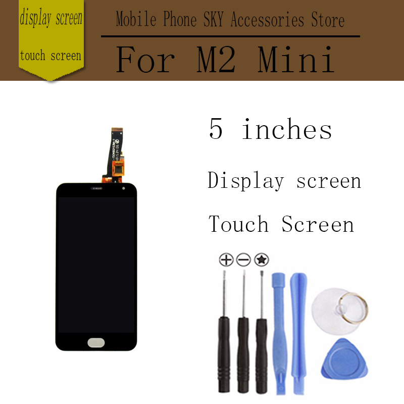 For Meizu M2 Mini LCD Touch Screen Digitizer + Display 5.0 Cellphone Black Color Free Shipping Digitizer Assembly Replacement