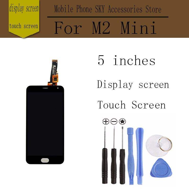 "imágenes para Para meizu m2 mini pantalla táctil digitalizador + pantalla lcd 5.0 ""teléfono móvil reemplazo digitalizador asamblea color negro envío gratis"
