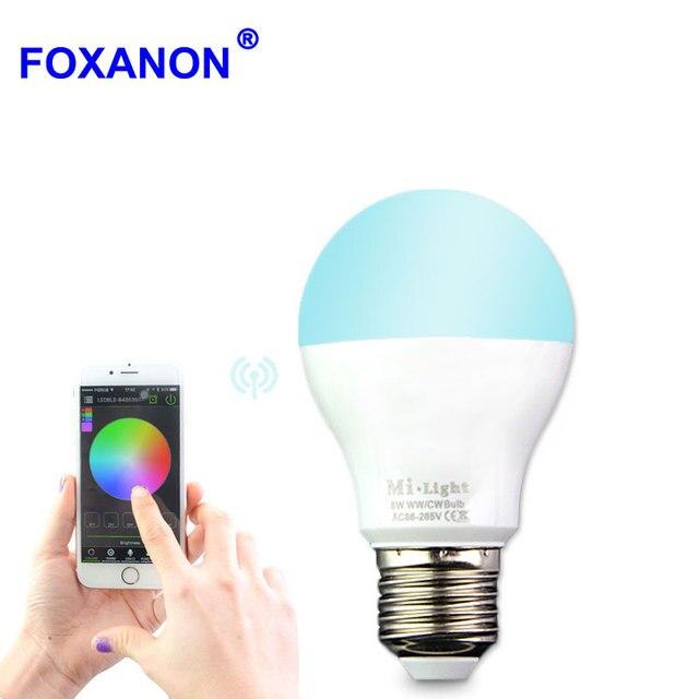 E27 Smart Led Lamp Wireless Bulb Lampada Speaker 85 265v E27 6w 9w