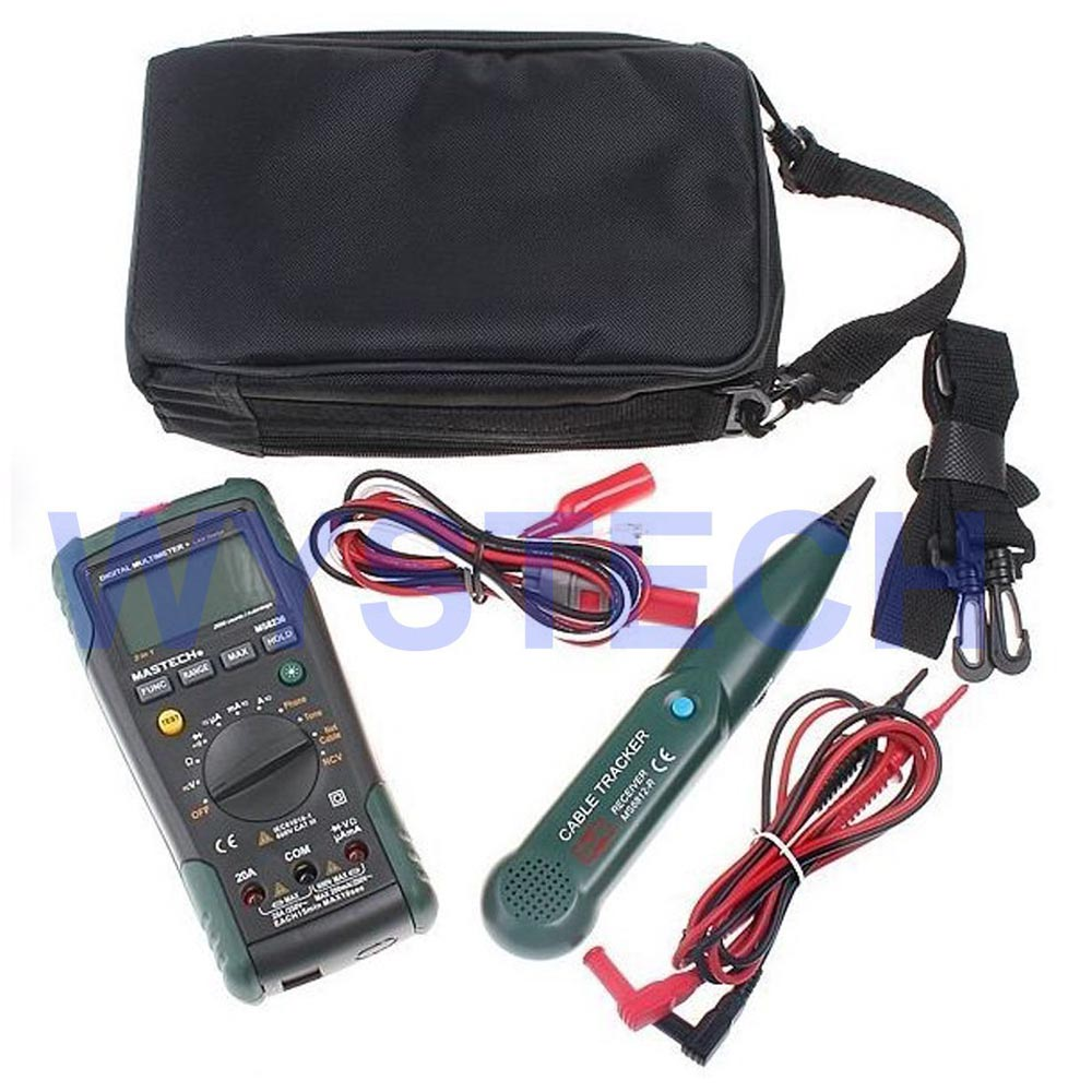 цена на LM005 MS8236 Digital Multimeter + Telephone Line Tracker Cable Tracer Wire Network Cable Tester