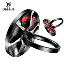 Baseus Finger Ring Holder Metal 360 Degree Spinner Mobile Smartphone Stand For iPhone 7 Samsung S8 Hand Phone