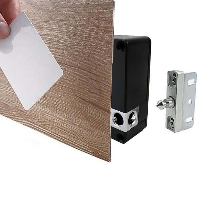Home Office Private Locker Drawer 13.56mhz Card Lock Black Electronic  Invisible Hidden Cabinet Lock