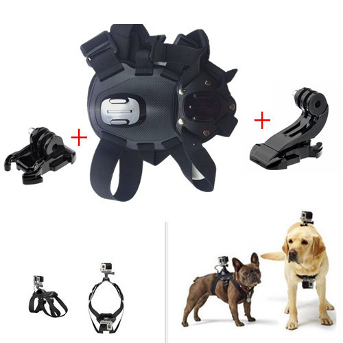 Go Pro Fetch dog Mount Dog Harness Chest Strap Mount+Base & J-Hook Buckle Mount for Gopro Camera Hero3 4 3+ SJ4000 Accessories