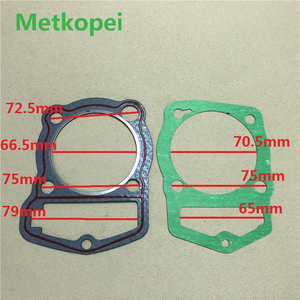 motorcycle CB200 WY200 LF200 cylinder block gasket piston diameter 66mm for Honda Lifan 200cc CB WY 200 engine seal parts(China)