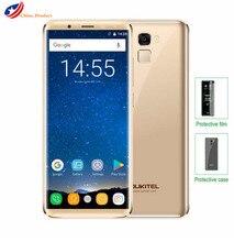 "Nouveau Oukitel K5000 5000 mAh 4G LTE 4 GB + 64 GB MTK6750 Octa Core 21MP + 16MP Mobile téléphone portable 5.7 ""HD 18:9 4G D'empreintes Digitales Smartphone"