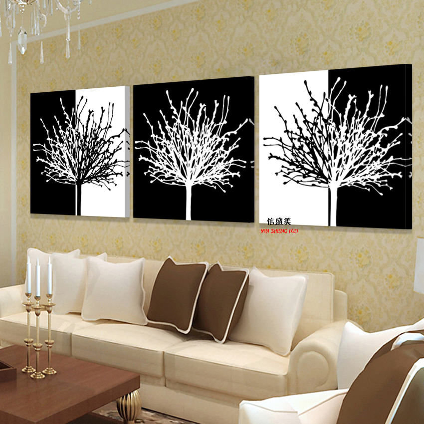 Canvas Art Modern 3 piece Poster Wall Modular Painting Beautiful Oil Paintings Pictures For Living Room HD Print Picture Bilder in Painting Calligraphy from Home Garden