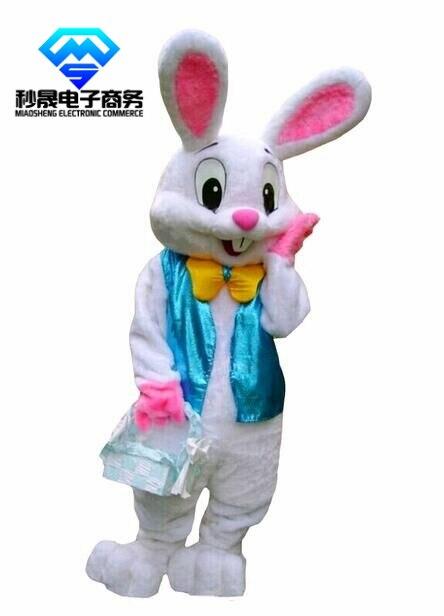 Costume de mascotte de lapin de pâques professionnel Bugs taille adulte de lièvre de lapin