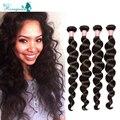 Curly Weave Human Hair Loose Wave Burmese Virgin Hair Unprocessed Rosa Queen Hair Products 4 Bundles Curly Human Hair Bundles