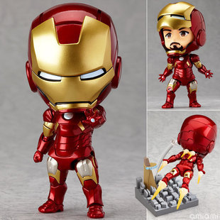 Cute Nendoroid 4 Movie Iron Man Mark7 Tony Stark Set PVC Action Figure Collection Model Toy #284 Free Shipping free shipping cute 4 nendoroid touhou project flandre scarlet pvc action figure model collection toy 136 mnfg036
