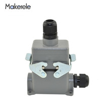 MK-HE-010-4 Hot Runner Plug Widely Used Multi Pin Heavy Duty Headlight Connector For Car System Heavy-duty Cover