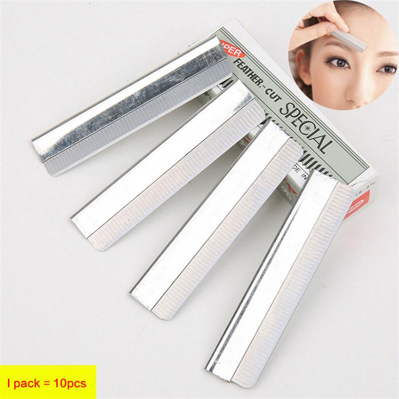 10pcs Eyebrow Trimmer Stainless Steel Eyebrow Scissors Women Razor For Eyebrows Face Shaver Hair Removal Beautiful Knives Makeup