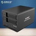 ORICO Herramienta Gratuita De Aluminio 2bay SATA a USB3.0 3.5 pulgadas Con la Función RAID Hdd Docking Station HDD Case (9528RU3-BK)