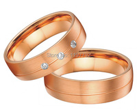 2014 new rose gold color jewelry engagement wedding bands ring sets for men and women